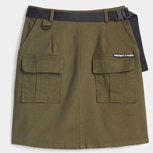 Project X  Paris khaki utility mini skirt NWT